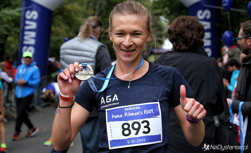 Po biegu z medalem